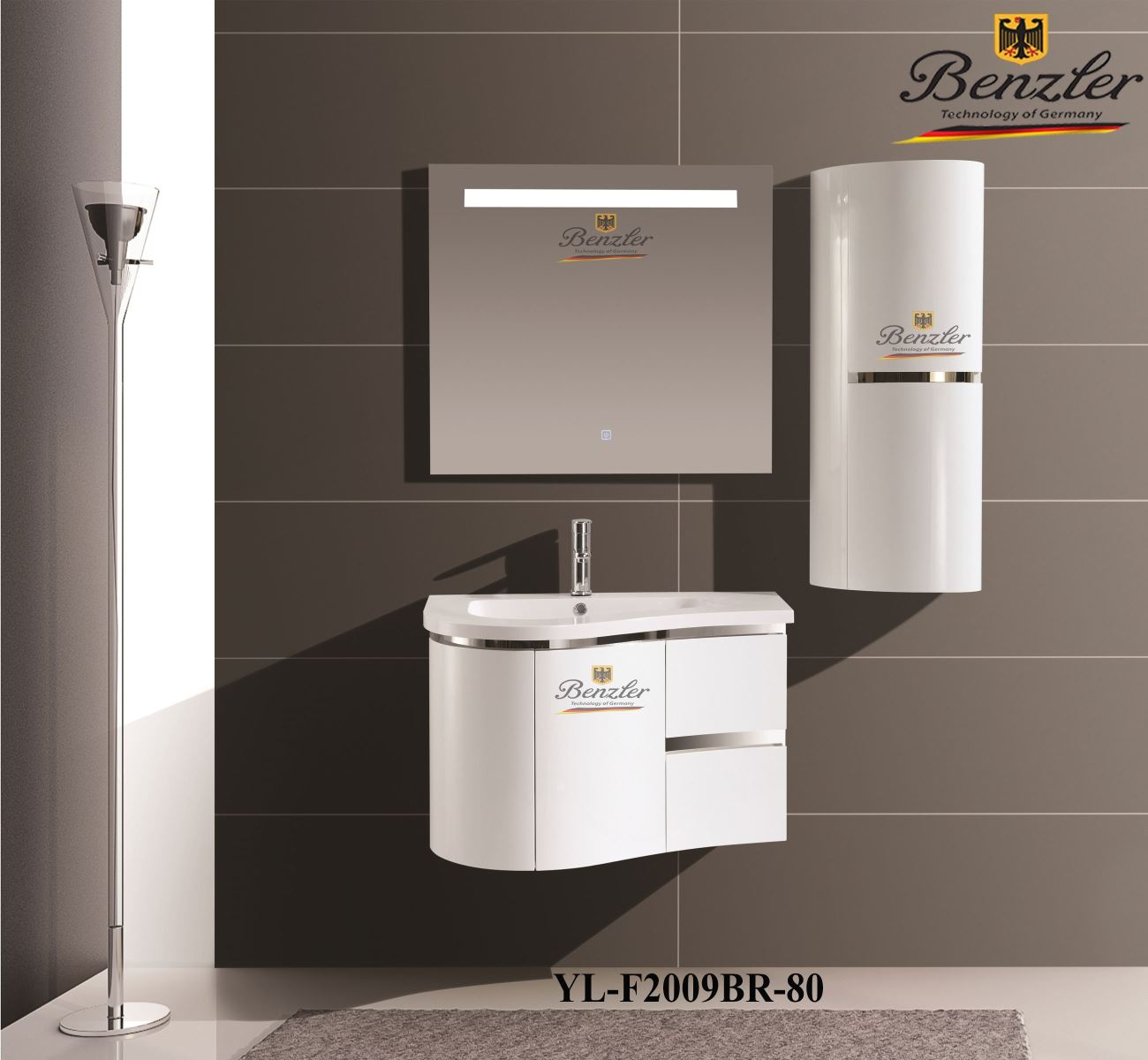 BỘ TỦ LAVABO BENZLER YL-F2009BR-80