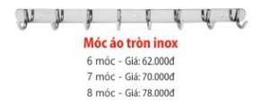 MÓC ÁO TRÒN INOX ZICO
